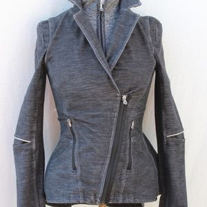 Lululemon Black Fossil Ridding Moto Sz 6 Jacket